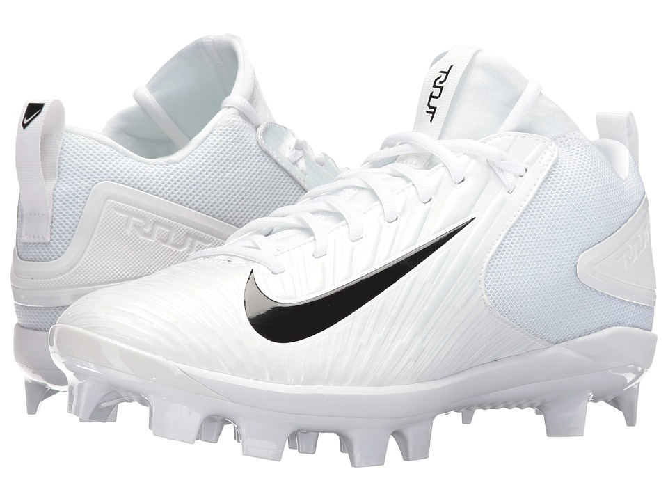 Nike - Trout 3 Pro MCS (White/Black/White) Men's Cleated Shoes