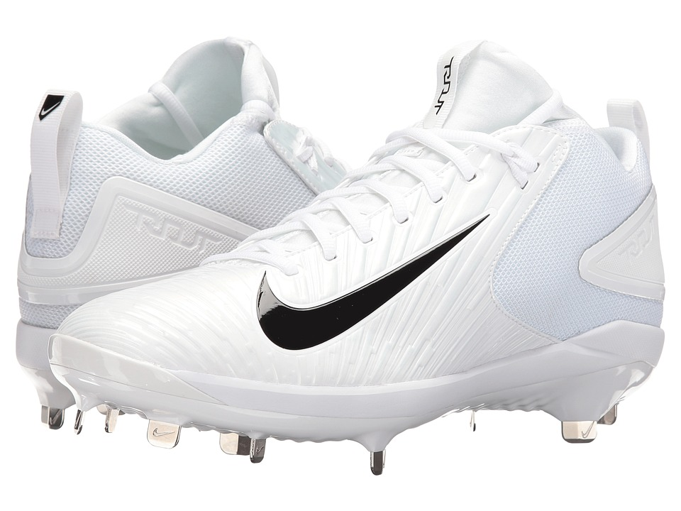 Nike - Trout 3 Pro Baseball Cleat (White/Black/White) Men's Cleated Shoes