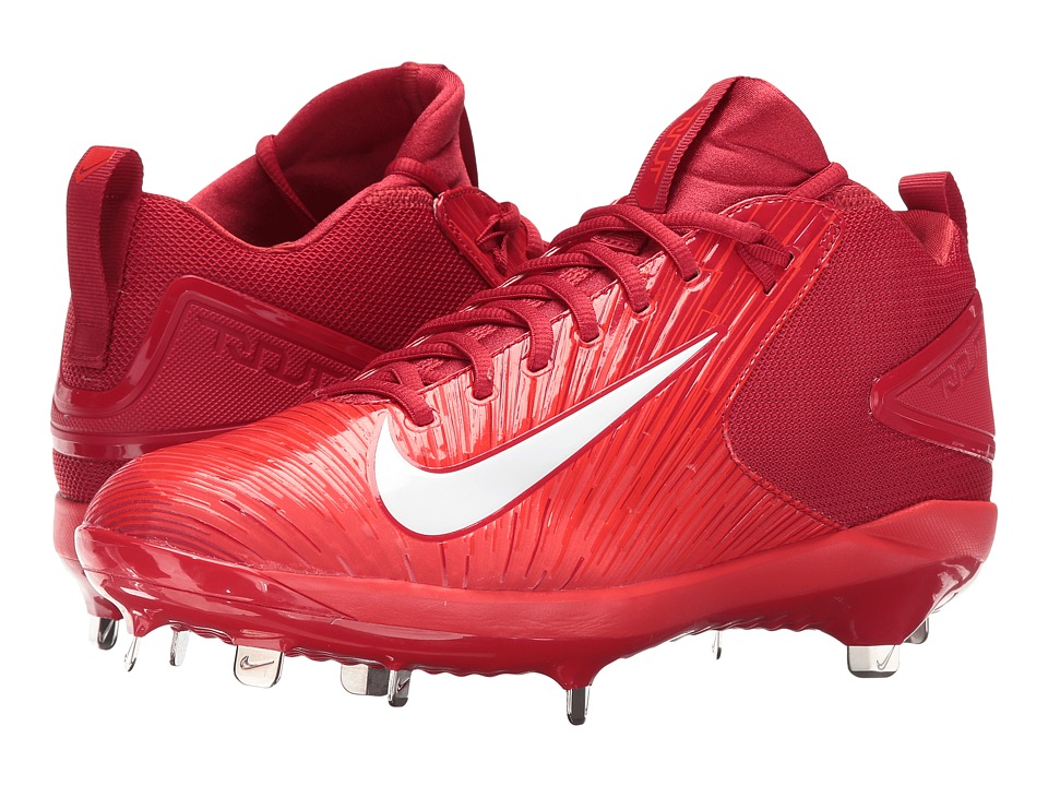 Nike - Trout 3 Pro Baseball Cleat (Varsity Red/White/Light Crimson) Men's Cleated Shoes