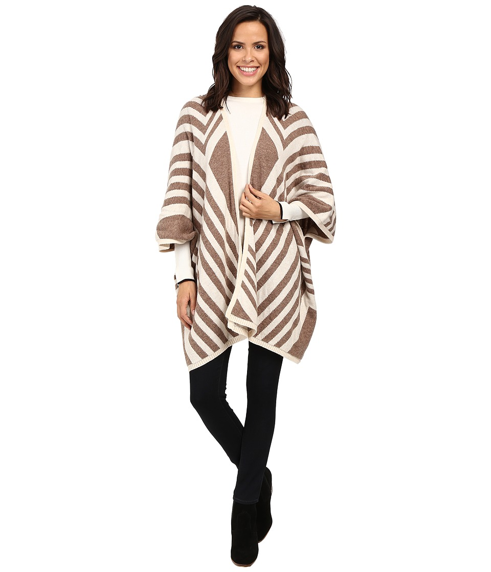 NYDJ - Knit Jacquard Cape (Chocolate Heather) Women's Clothing