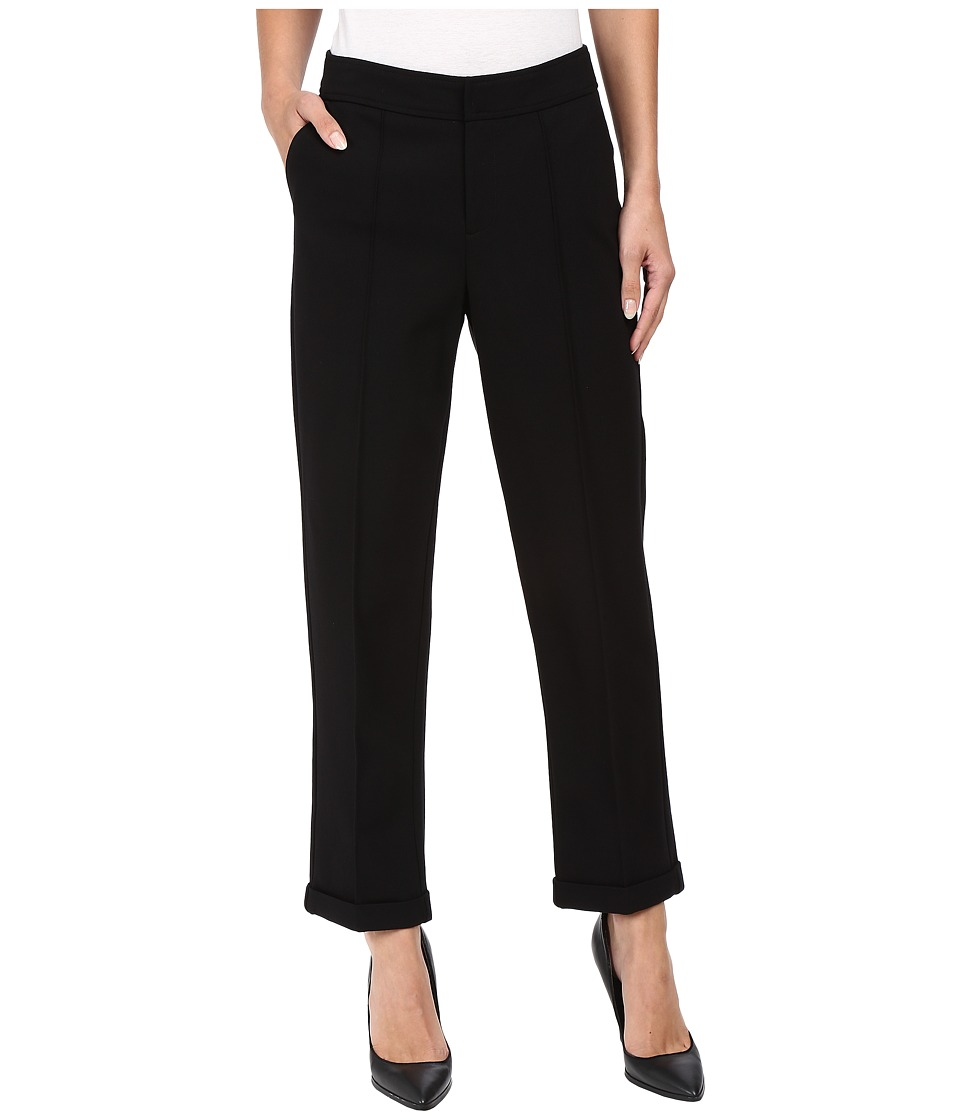 NYDJ - Denise Slim Cuffed Ankle Pants in Ponte Knit (Black) Women's Casual Pants
