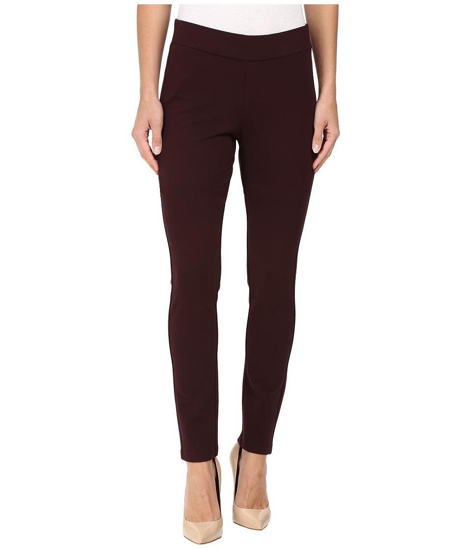 NYDJ - Jodie Pull-On Ponte Knit Legging (Brandy Wine) Women's Casual Pants