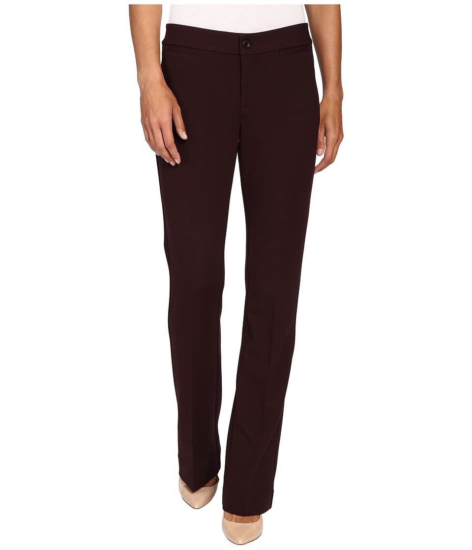 NYDJ - Michelle Ponte Trouser (Brandy Wine) Women's Casual Pants