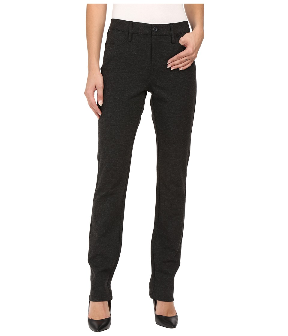 NYDJ - Cindy Slim Leg Ponte Knit Pant (Charcoal) Women's Casual Pants
