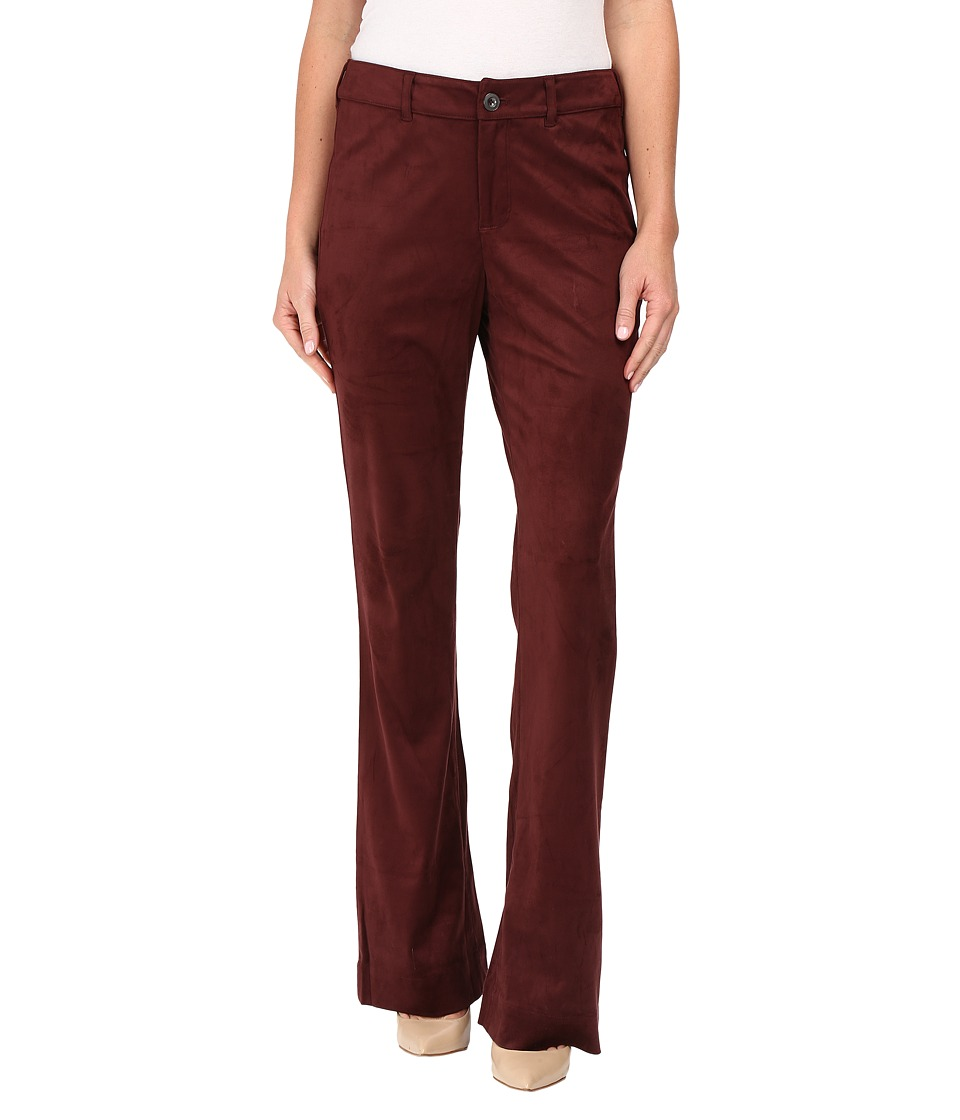 NYDJ - Teresa Modern Trousers in Faux Suede (Mahogany Wood) Women's Casual Pants