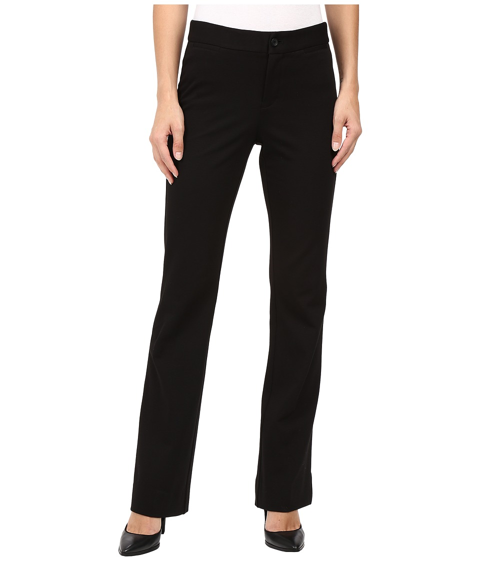NYDJ - Teresa Modern Trousers in Stretch Twill (Black) Women's Casual Pants