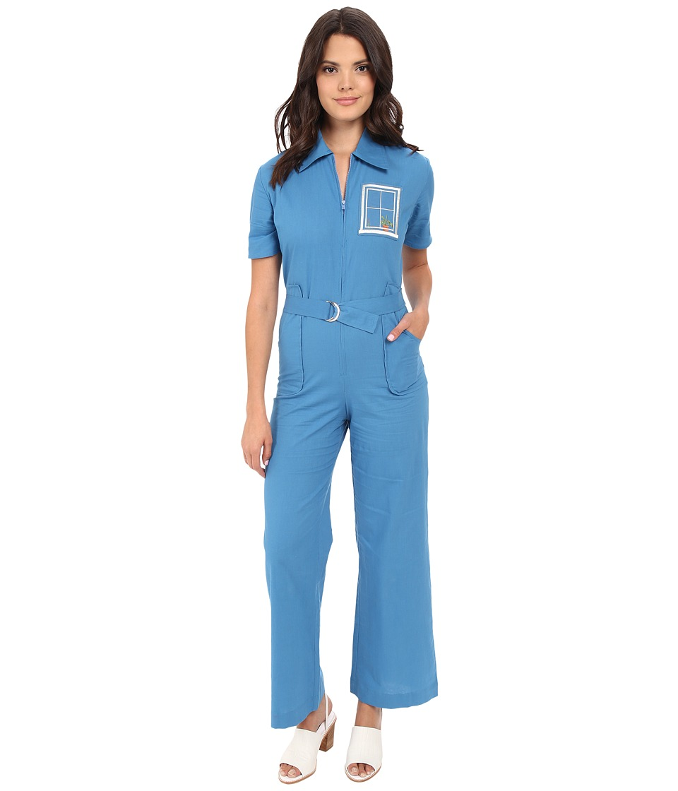 Samantha Pleet - House Jumpsuit (Blue) Women's Jumpsuit & Rompers One Piece