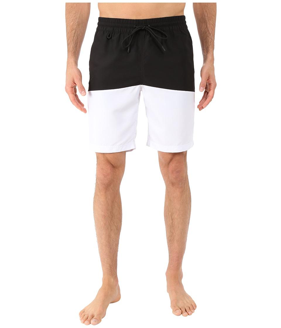 Publish - Silas - Boardshorts with Color Blocking (Black) Men's Swimwear