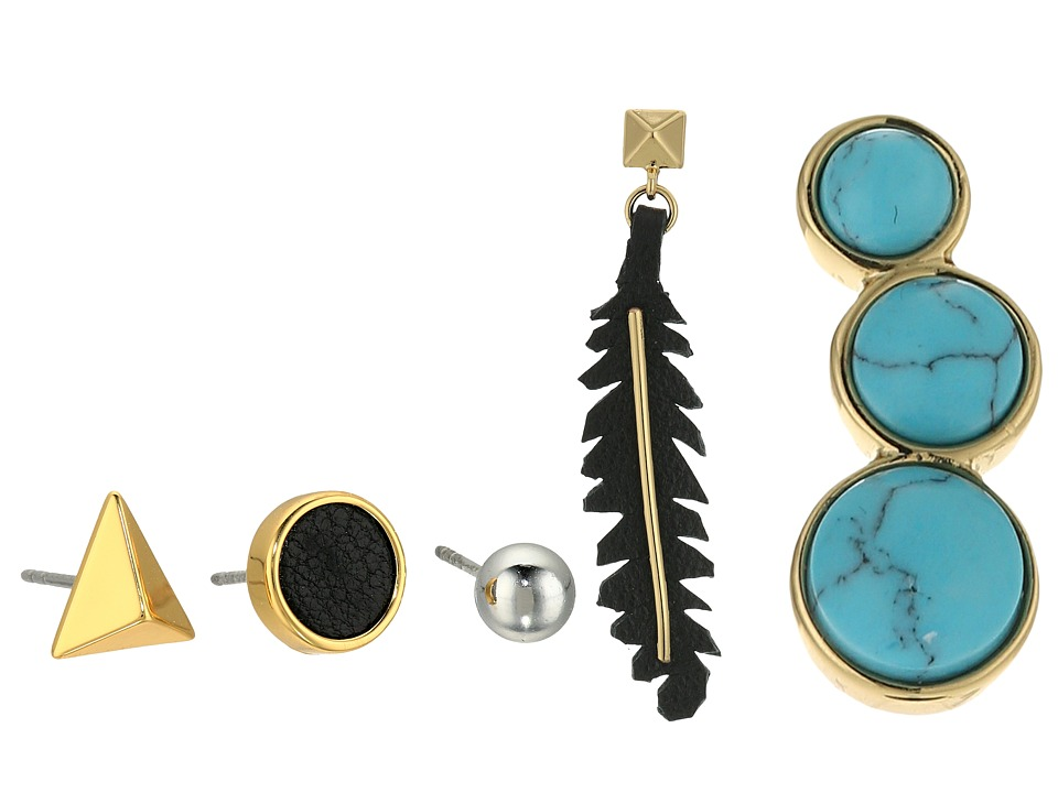 Rebecca Minkoff - Dream Catcher Singles Set (Gold/Rhodium/Black/Turquoise) Earring