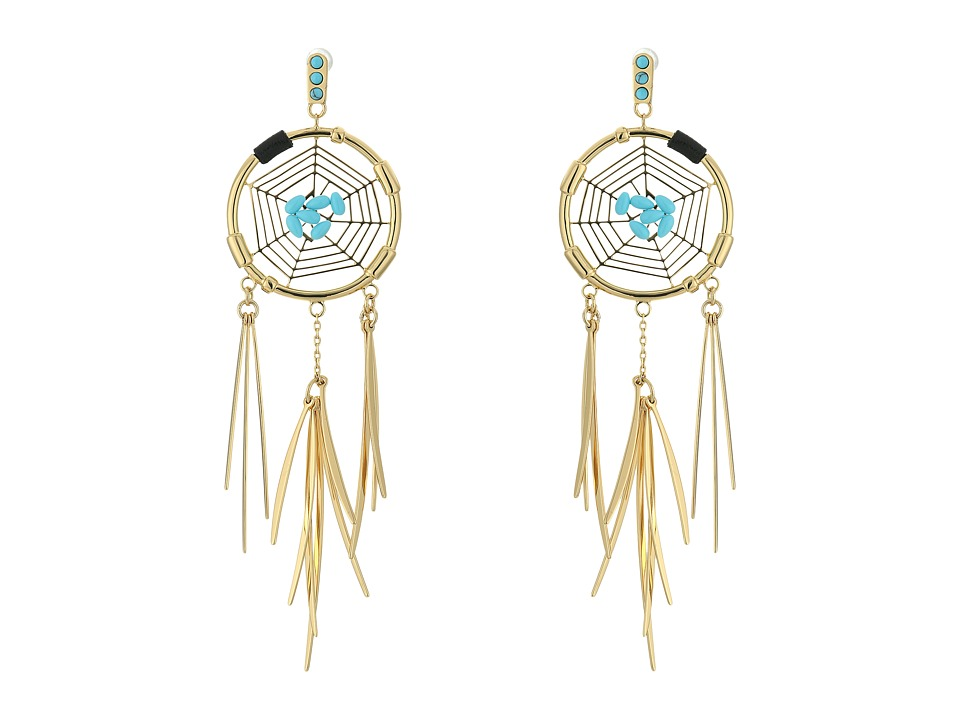 Rebecca Minkoff - Small Dream Catcher Earrings (Gold/Turquoise) Earring