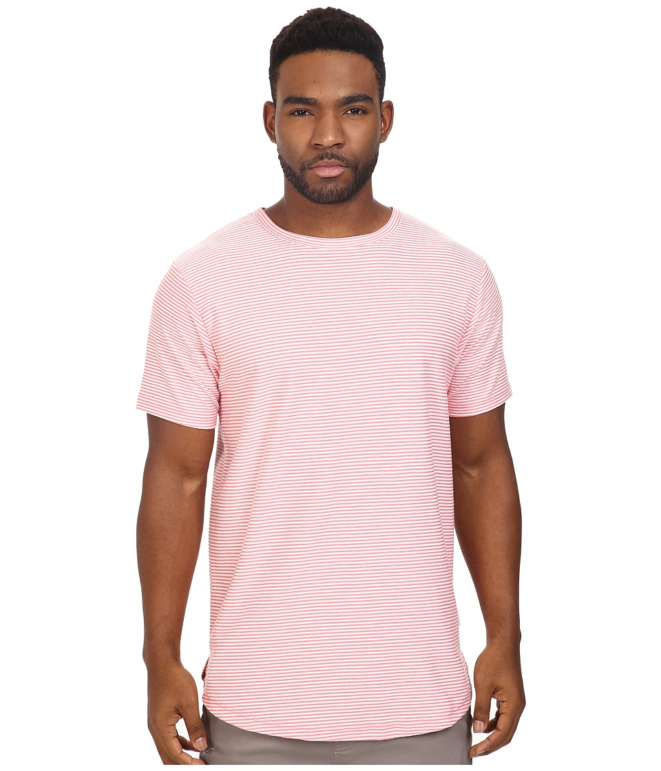 Publish - Norr - Striped Terry Scallop Bottom Tee (Pink) Men's T Shirt