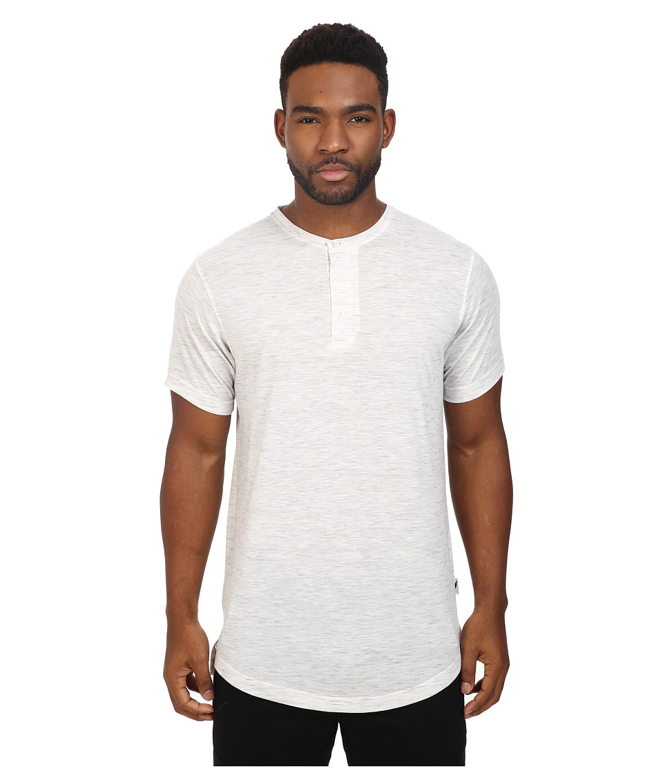 Publish - Darwin - Heathered Knit Henley (Ash Heather) Men's Clothing