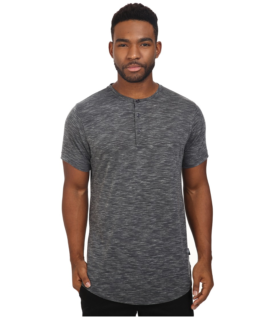 Publish - Darwin - Heathered Knit Henley (Slate) Men's Clothing