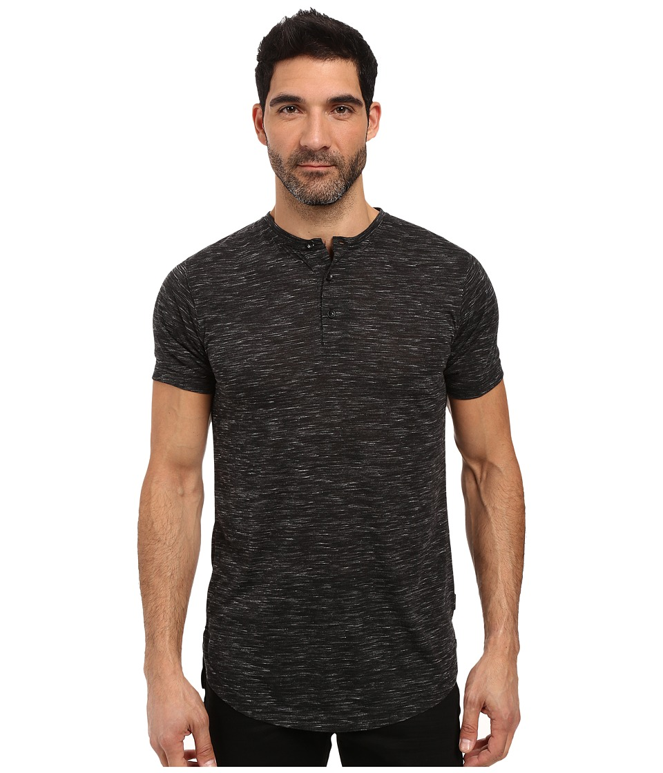 Publish - Darwin - Heathered Knit Henley (Black) Men's Clothing