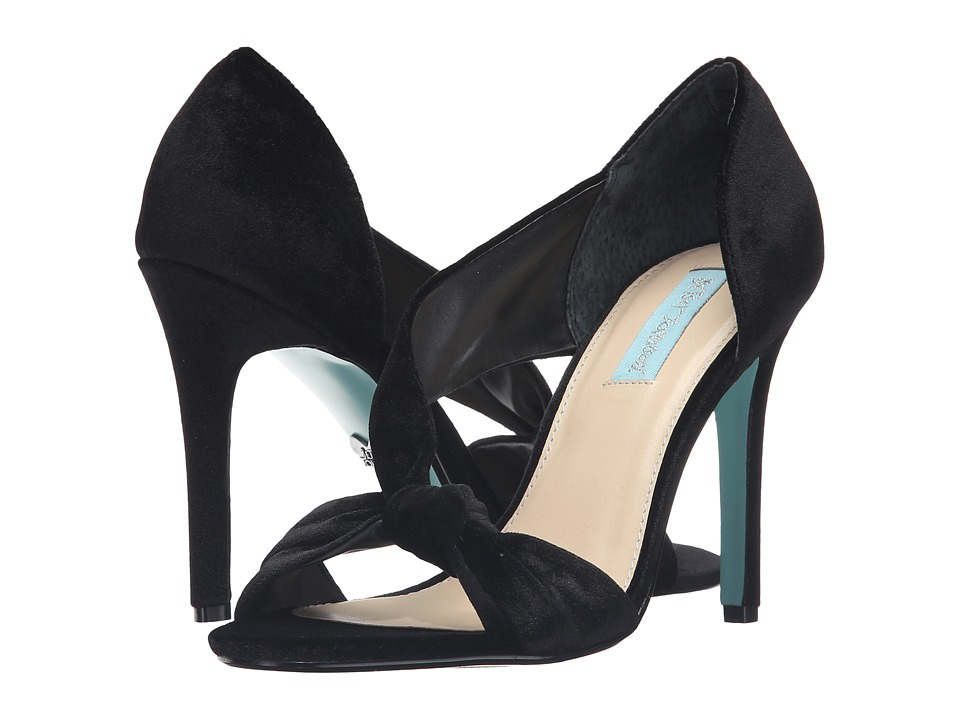 Blue by Betsey Johnson Abi (Black Velvet) High Heels