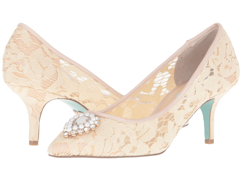 Blue by Betsey Johnson - Karin (Champagne Fabric) High Heels