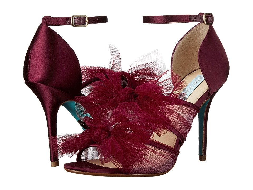 Blue by Betsey Johnson Big (Bordeaux) High Heels
