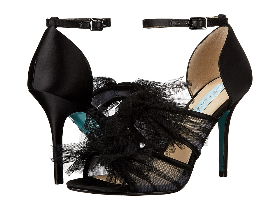 Blue by Betsey Johnson - Big (Black Satin) High Heels