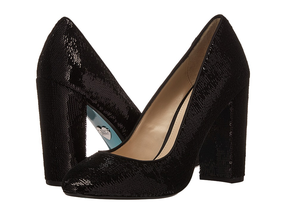 Blue by Betsey Johnson Lou (Black Sequin) High Heels