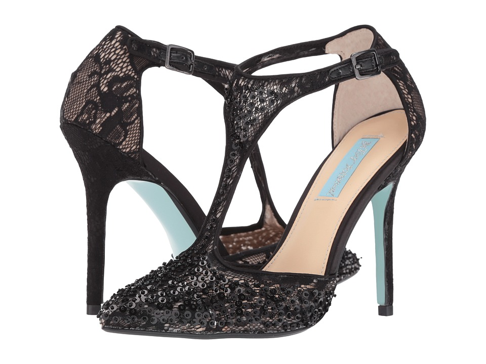 Blue by Betsey Johnson - Eliza (Black Lace) High Heels