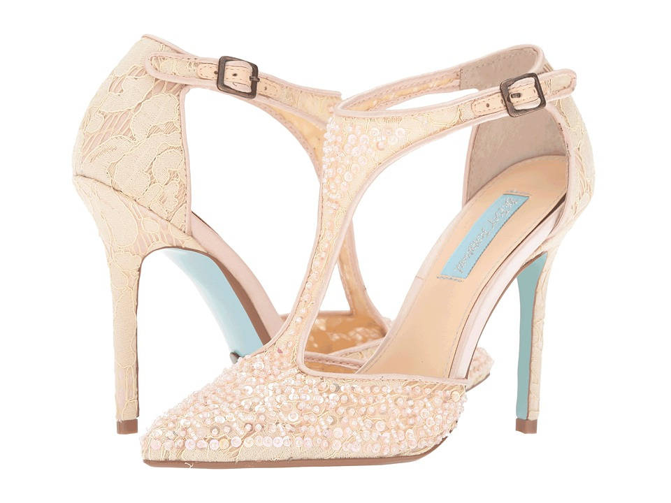 Blue by Betsey Johnson Eliza (Champagne Fabric) High Heels
