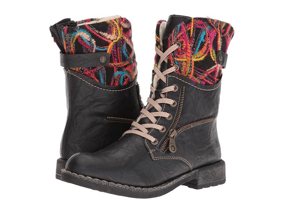 Rieker - 74609 (Schwarz/Schwarz Multi) Women's Boots
