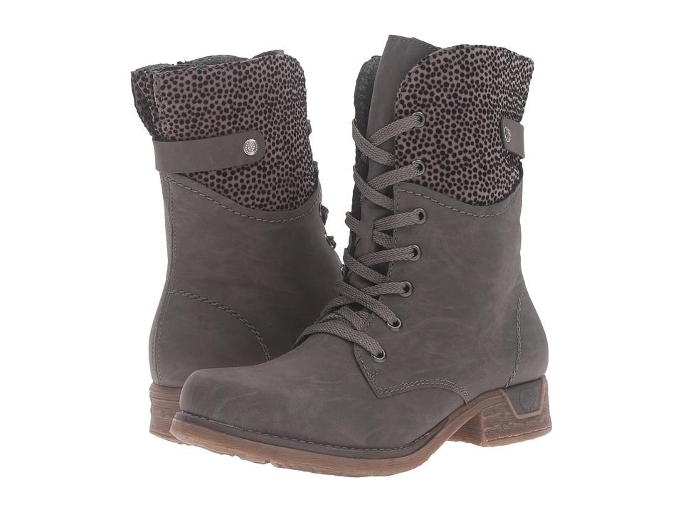 Rieker - 79604 (Fumo/Grau) Women's Boots