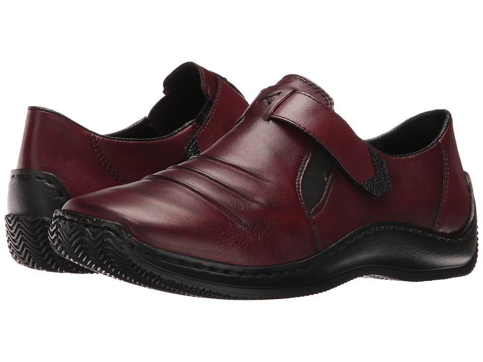 Rieker - L1763 Celia 63 (Medoc/Black/Burgundy) Women's Slip on Shoes