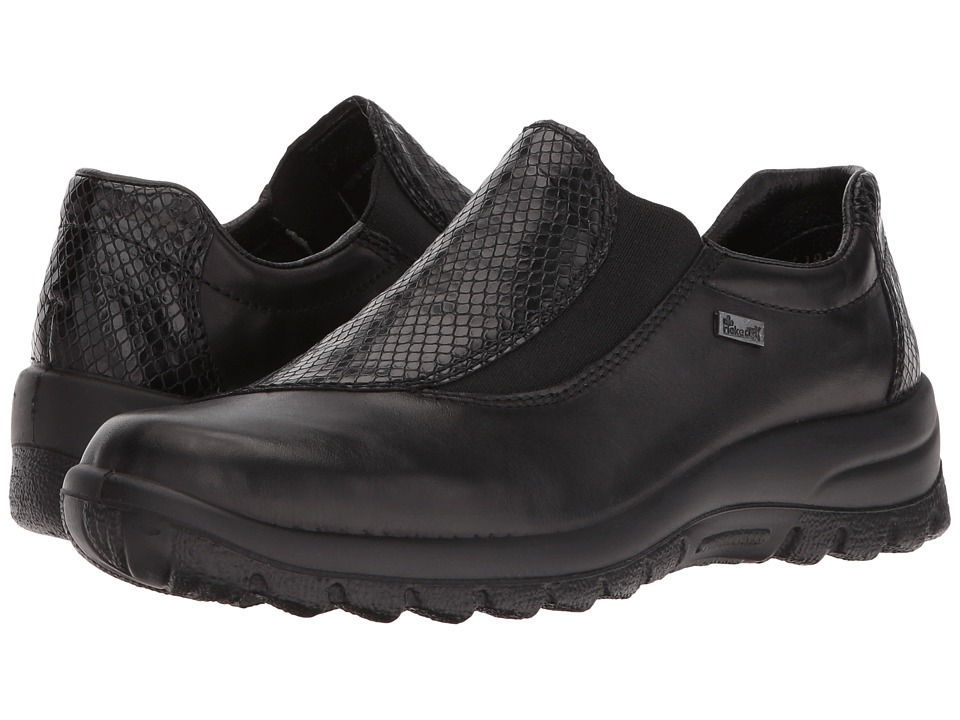 Rieker - L7170 Eike 70 (Black/Black) Women's Slip on Shoes