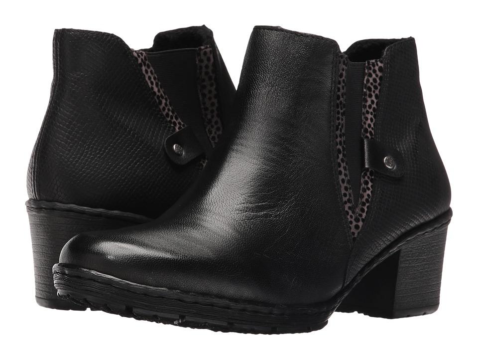 Rieker - Y8871 (Schwarz/Grau/Schwarz) Women's Boots