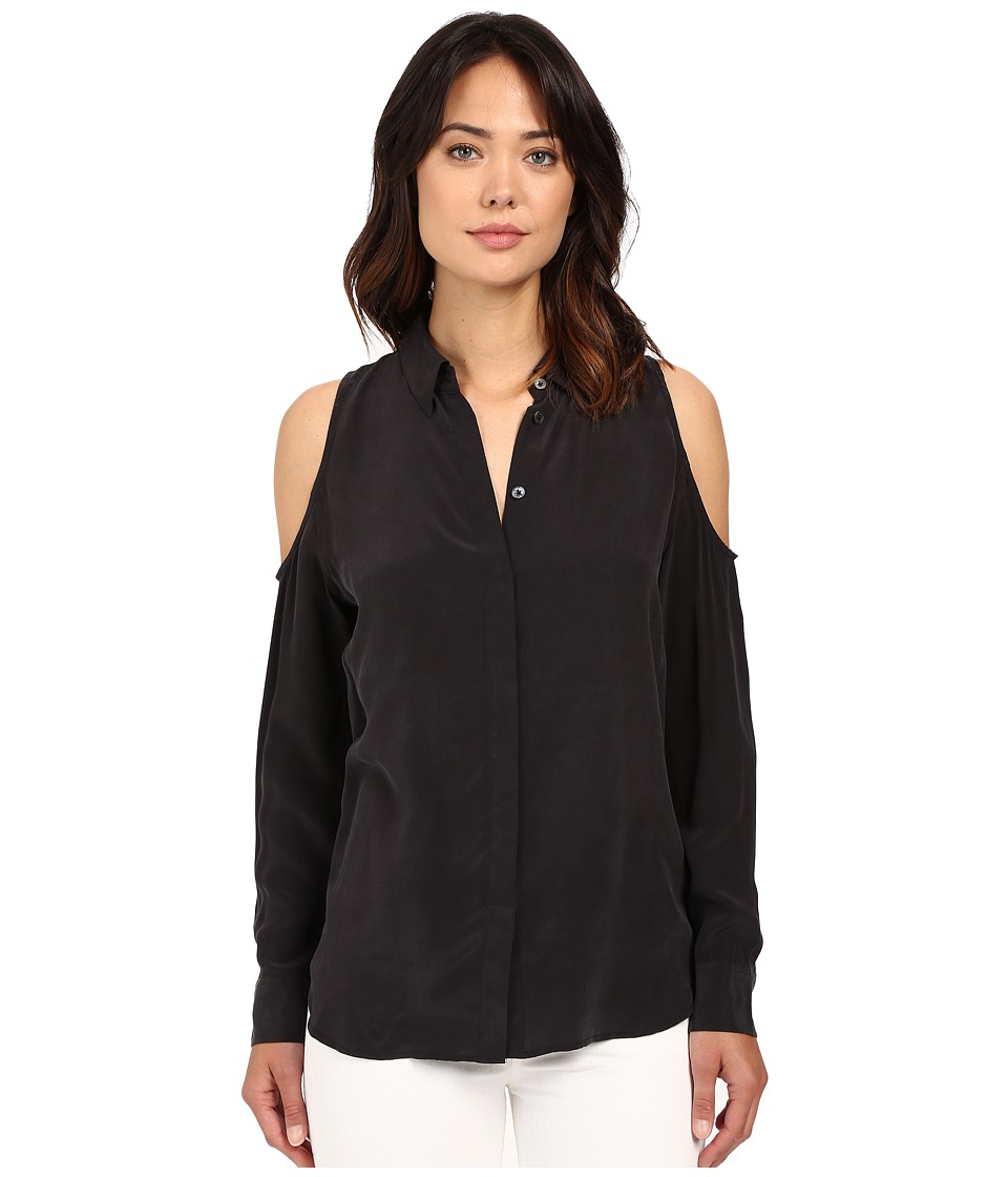 EQUIPMENT - Nixie Top (True Black) Women's Blouse