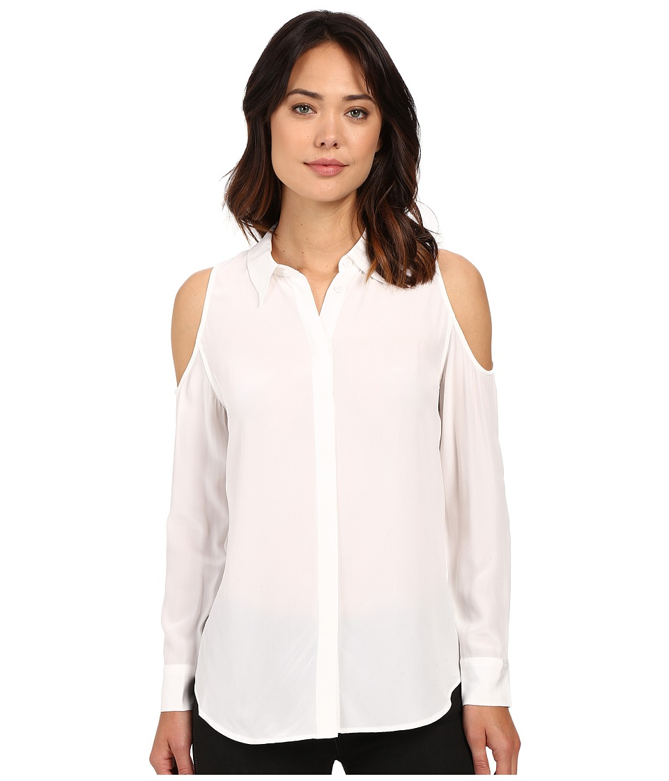 EQUIPMENT - Nixie Top (Bright White) Women's Blouse