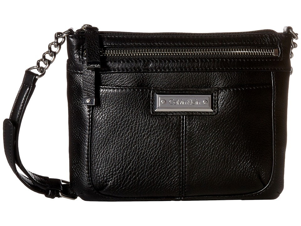Calvin Klein - Key Item Pebble Leather Crossbody (Assorted) Cross Body Handbags