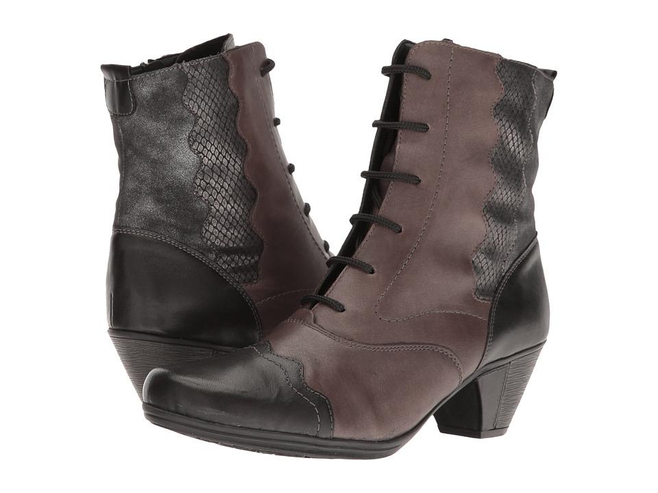 Rieker - D1271 (Schwarz/Graphit/Granit/Grapl) Women's Dress Boots