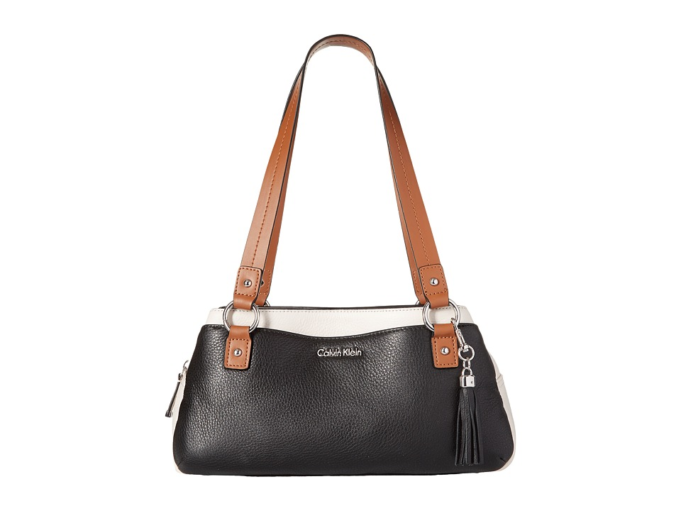 Calvin Klein - Classics Pebble Satchel (Black Combo) Satchel Handbags