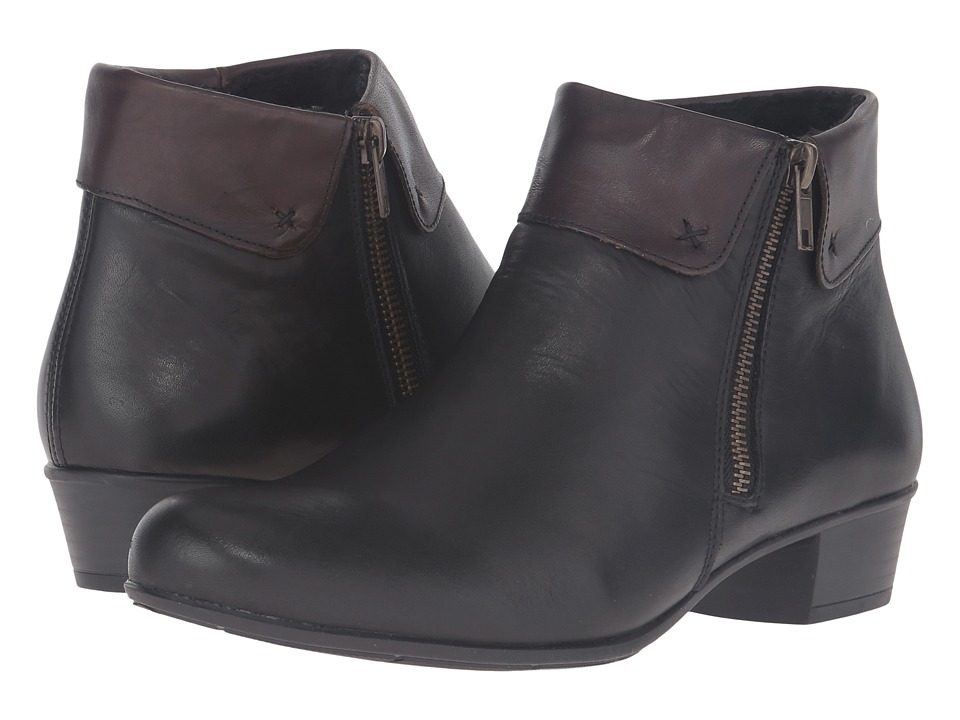Rieker - D3572 Alani 72 (Schwarz/Havanna) Women's Boots