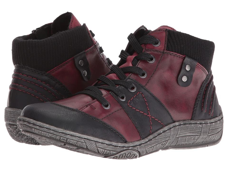 Rieker - D3879 Thelka 79 (Schwarz/Vino/Wine/Schwarz) Women's Boots