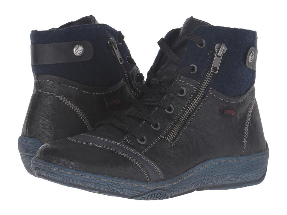 Rieker - D3874 (Schwarz/Ozean/Schwarz) Women's Boots