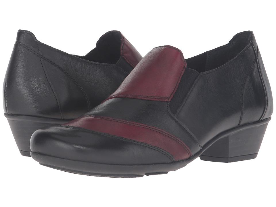 Rieker - D7306 Milla 06 (Schwarz/Chianti/Schwarz) Women's Shoes