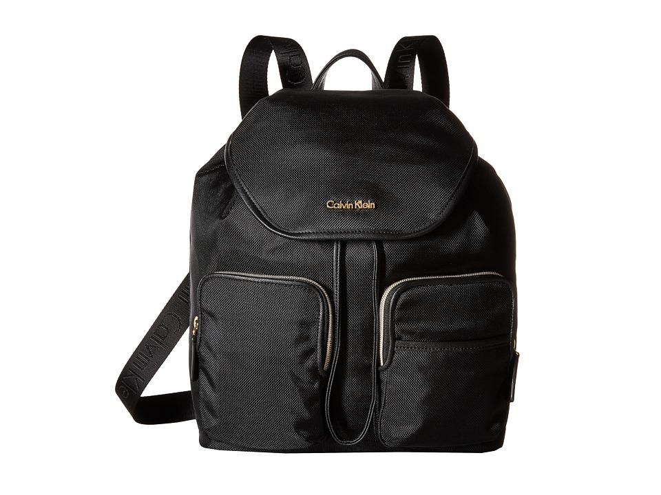 Calvin Klein - Parker Ballistic Nylon Backpack (Black) Backpack Bags