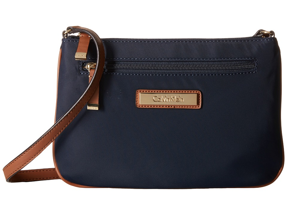 Calvin Klein - Dressy Nylon Crossbody (Navy) Cross Body Handbags