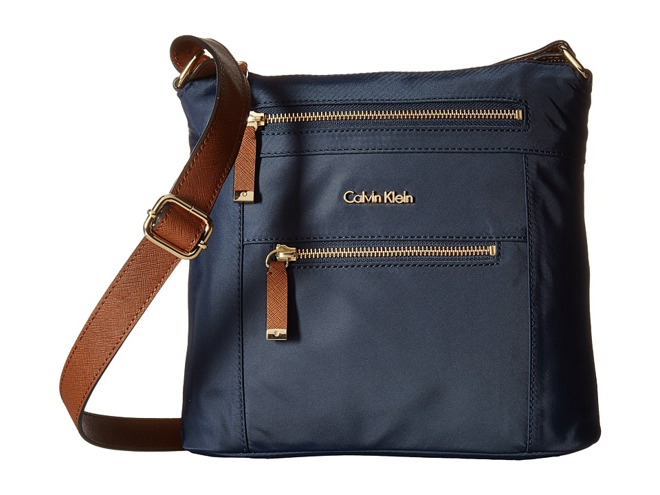 Calvin Klein - Dressy Nylon Crossbody (Navy) Cross Body Handbags