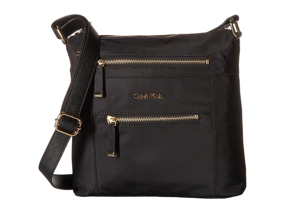 Calvin Klein - Dressy Nylon Crossbody (Black) Cross Body Handbags