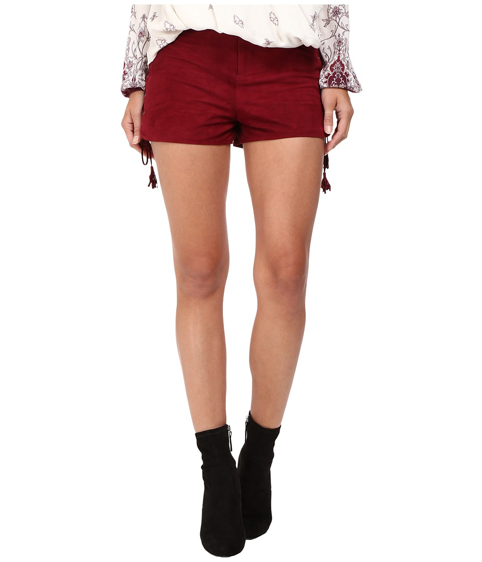The Jetset Diaries - Nevra Suede Shorts (Oxblood) Women's Shorts