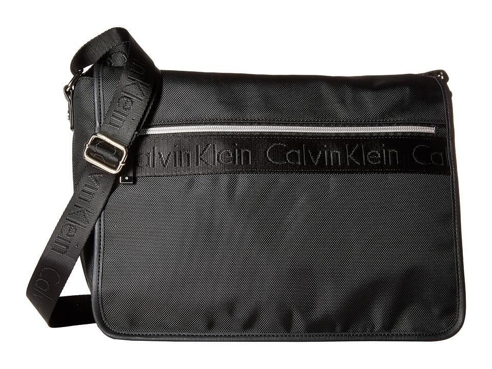 Calvin Klein - CKP Ballistic Messenger (Black/Black) Messenger Bags