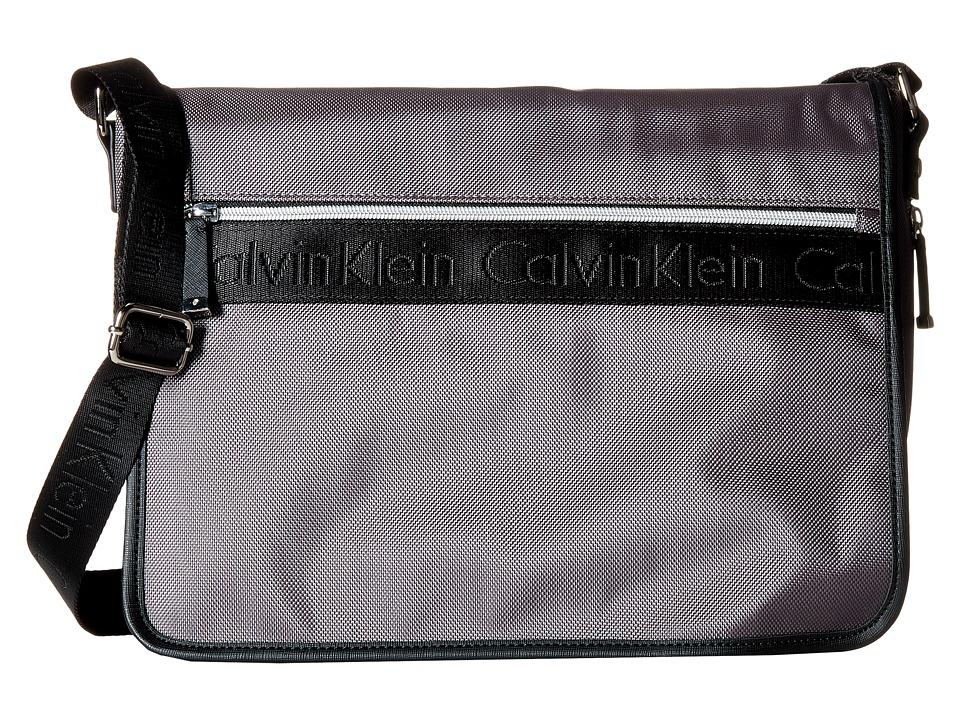 Calvin Klein - CKP Ballistic Messenger (Grey/Black) Messenger Bags