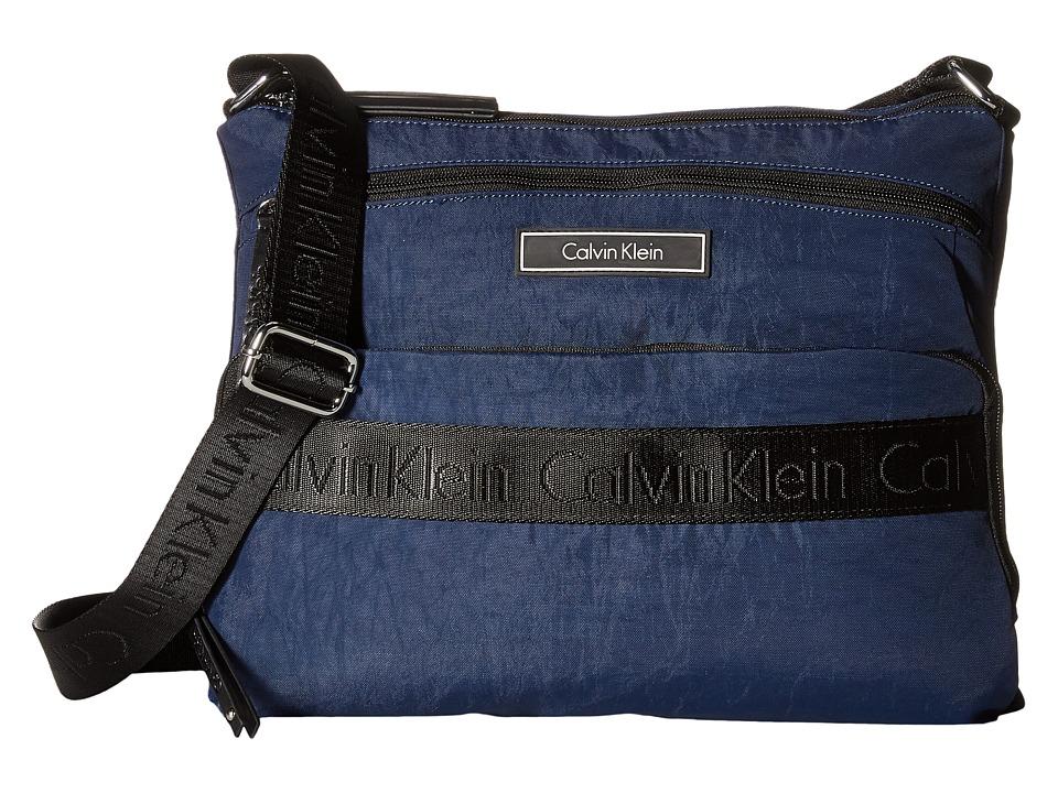 Calvin Klein - CKP Distressed Nylon Messenger (Navy) Messenger Bags