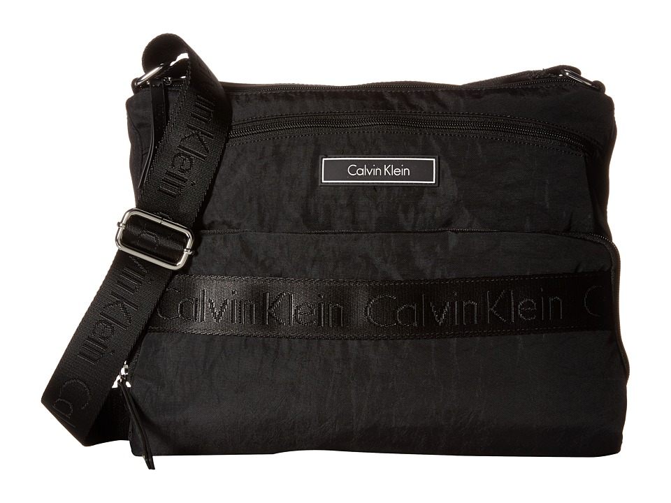 Calvin Klein - CKP Distressed Nylon Messenger (Black) Messenger Bags