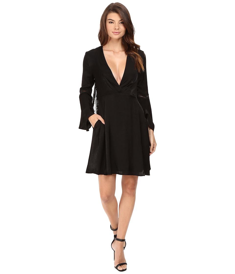 The Jetset Diaries - Spartel Fringe Mini Dress (Black) Women's Dress