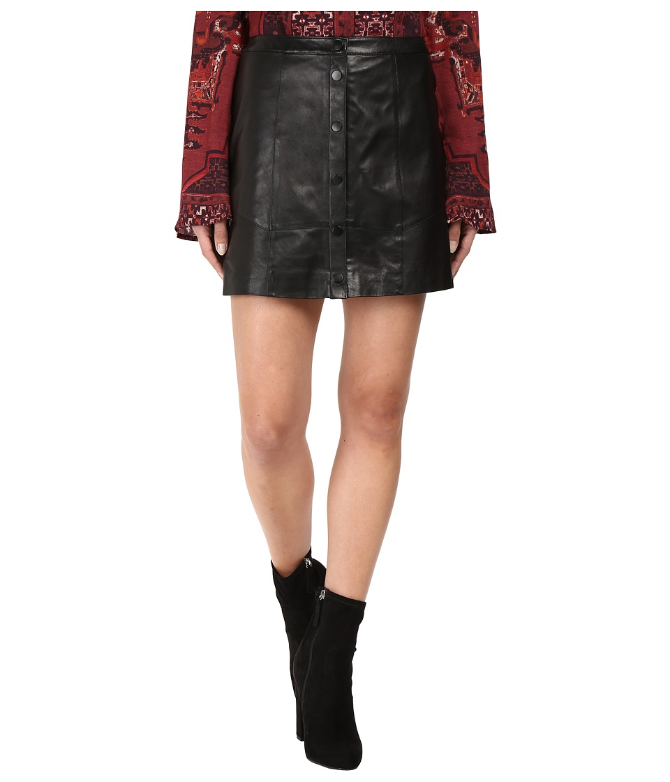 The Jetset Diaries - Saraya Leather Mini Skirt (Black) Women's Skirt